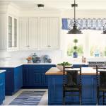 kitchen-design-in-marietta-ga-cobalt-blue-base-cabinets-ivory-top-cabinets-butcher-block-island