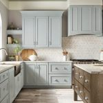 kitchen-remodel-in-Marietta-ga-kraftmaid-seafoam-blue-maple-cabinets-kitchen-island